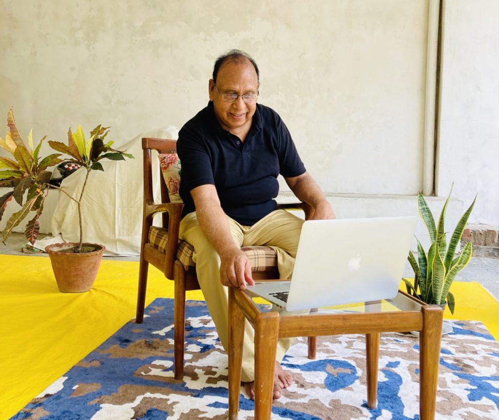 The founder of SBZ rugs, Ashfaq Ansari